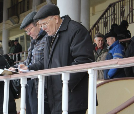 Punters study the form between races