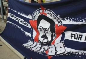 Communist revolutionary Karl Liebknecht adorns a Babelsberg banner.