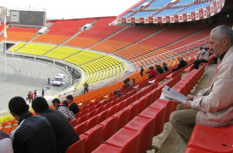Hradzan stadium empty
