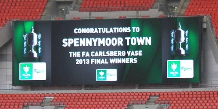 Wembley Stadium scoreboard.
