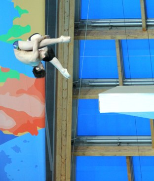 Action from the mixed synchro diving competition on day one of the 2015 FINA World Championships in Kazan, Russia.