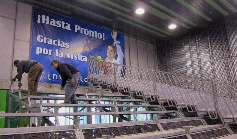 valdemoro rink temporary stand