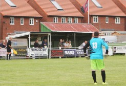 One of the stands at Beechfield Park, Coxhoe Athletic.