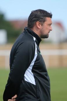 Ashington manager Steve Harmison, former England cricket star.