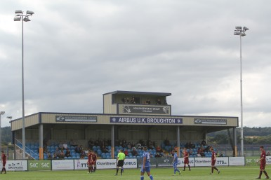 The main stand at the Airfield, home of Airbus UK.