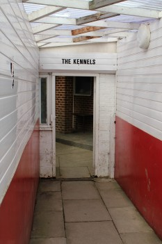The entrance to the dressing rooms at Bedlington Terriers FC.
