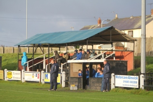 The main stand at St. James' Park, Alnwick.