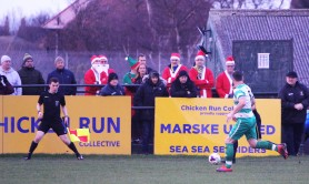 Marske United's Chicken Run Collective gets a visit from the Lapland branch.