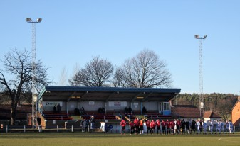 The teams line up at Moor Park.