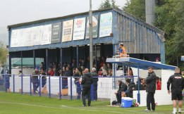 The main stand at Surrey Street, Glossop.