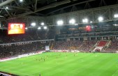 Inside Spartak Moscow's Otkrytiye Arena during the Russia-Sweden game.