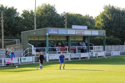 The Tony Dunning stand at Mill Lane, Pickering.