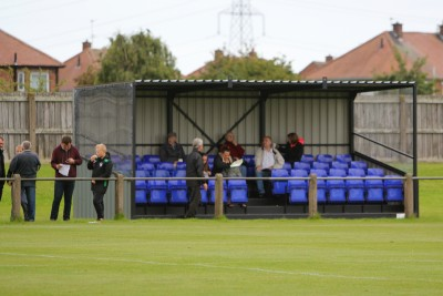 The stand at Perth Green.