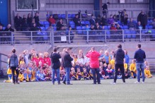 Durham's sister clubs during their half-time presentation.