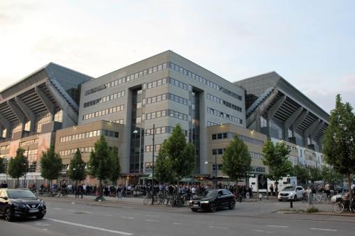 Outside Parken, FC Kobenhavn's stadium.