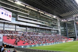 The family stand and corporate facilities at Parken, FC Kobenhavn's stadium.