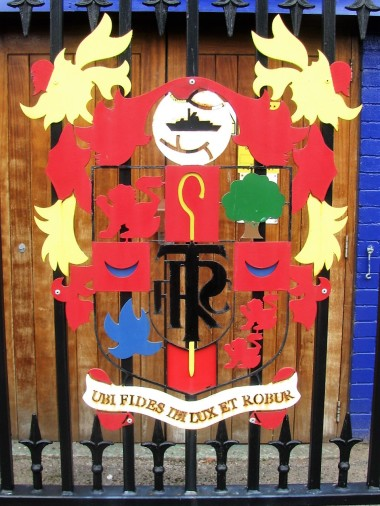 Club crest outside Prenton Park, Tranmere