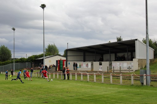The main stand at Brandon Utd.