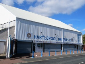 The club offices at Victoria Park, Hartlepool Utd.