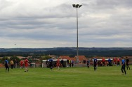 Country views from Brandon United's Welfare Ground.