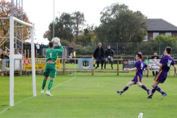 Hebburn goalie Andrew Jennison claims a cross.