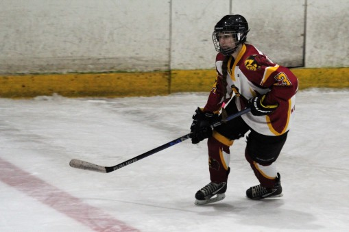 Whitley Squaws defence Sophie Newton.