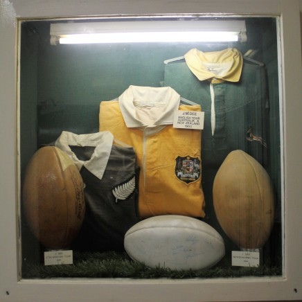 Memorabilia associated with John Mackenzie Dee, the last Hartlepool Rover to become a full England international.