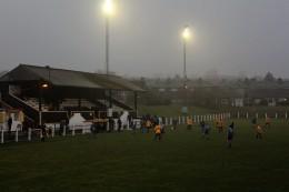 Action as Crook Town (amber and black) take on Ryton & Crawcrook.