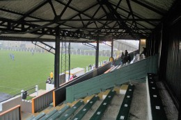 The old main stand at Millfield.