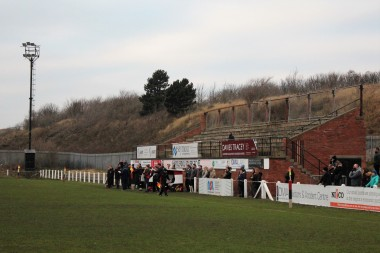 An abandoned stand at Hartlepool Rovers' Friarage ground.