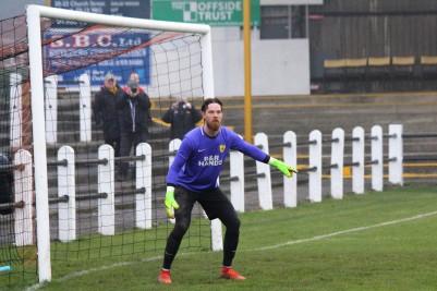 Ryton goalie Stefan Holden.
