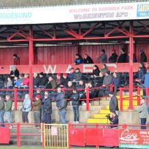 Fans at Borough Park, Workington.