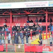 Fans at Borough Park, Workington.