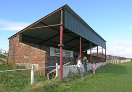 Matchday at Stanley Utd's Hilltop Ground in 2005. Photo by David Bauckham / Centre Circle Publishing.