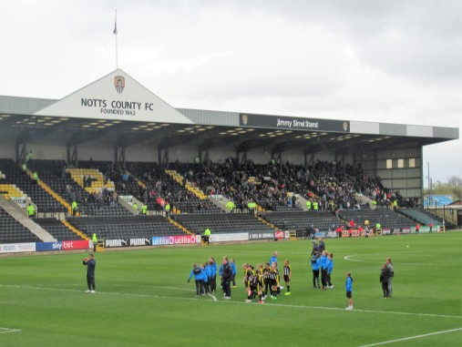 The Jimmy Sirrel Stand at Meadow Lane, Notts County.