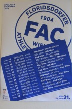 FAC's spring fixture list.