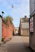 The alley to the away end at Millmoor.