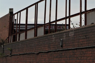 An old tea bar in the Millmoor Lane stand.