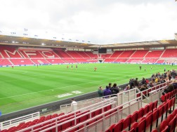 Inside Middlesbrough's Riverside Stadium before the North Riding Senior Cup final.