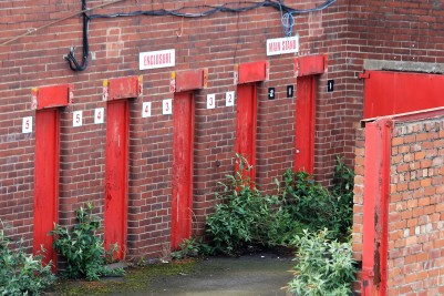 The old turnstiles at Millmoor.