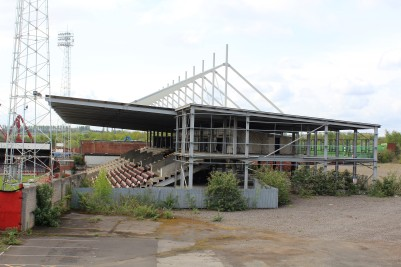 The proposed new stand, left unfinished when the Millers moved on.