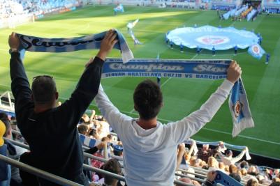 Slovan fans.