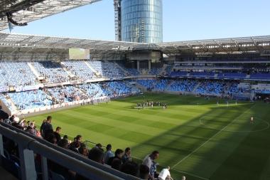 Inside Slovan's new Tehelne Pole stadium.