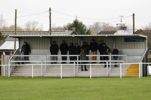 The stand at Coldstream FC's Home Park ground.