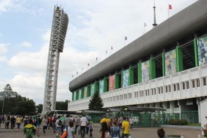 Outside the Kuban Stadium, Krasnodar.