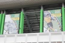 Memories of club legends at the Kuban Stadium, Krasnodar.