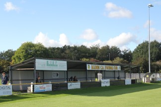 The main stand at Boldon CA.