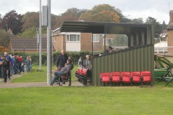 The stand at Knaresborough's Manse Lane ground.
