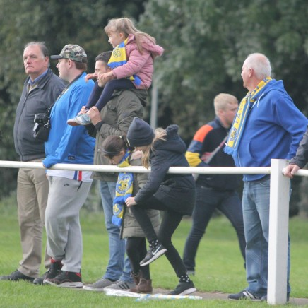 Stockton fans watch the action at Knaresborough.